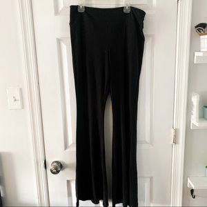 Pants - Black boho/bell bottom soft cotton pants
